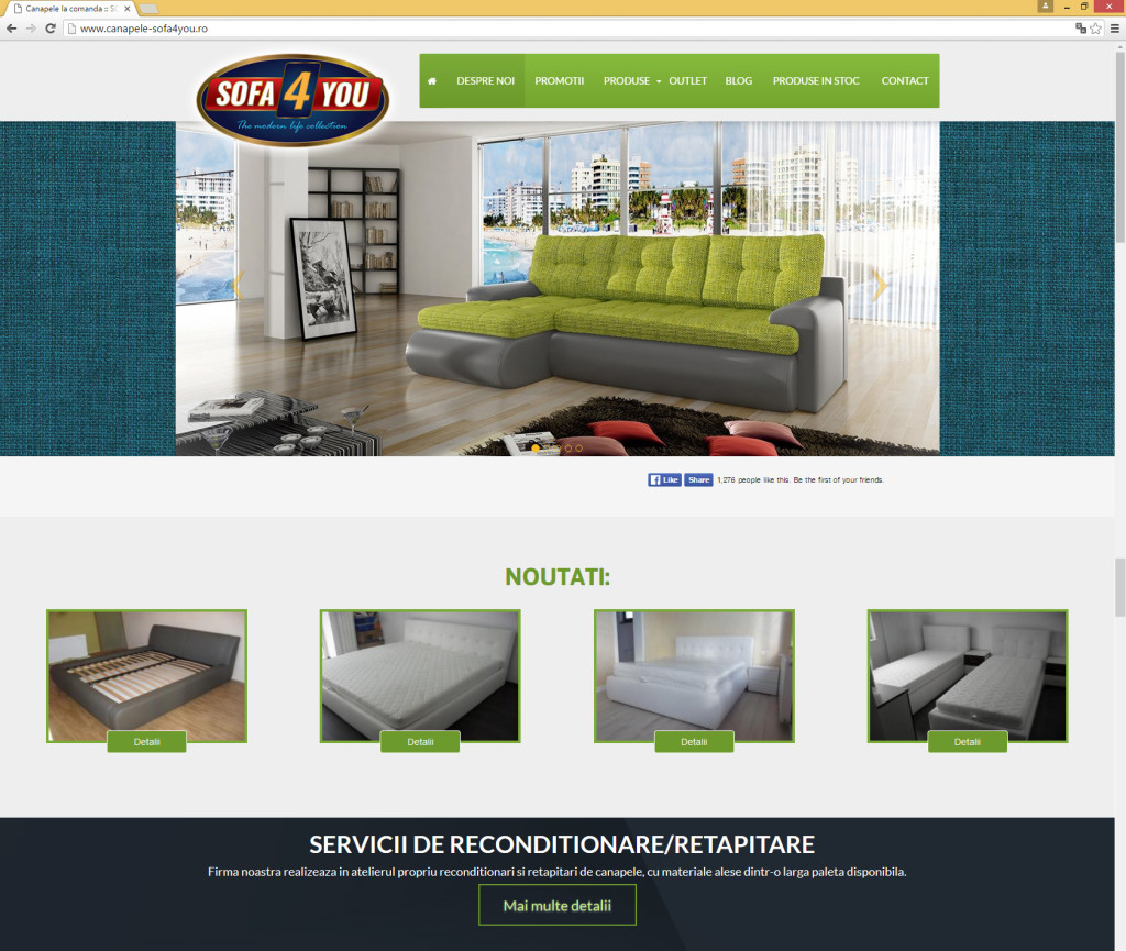 Realizare Site Web Canapele Sofa4You