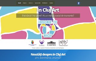 Exemplu website Manifest Media - In Cluj Art
