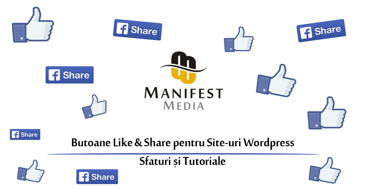 Butoane Like and Share Facebook Site Wordpress