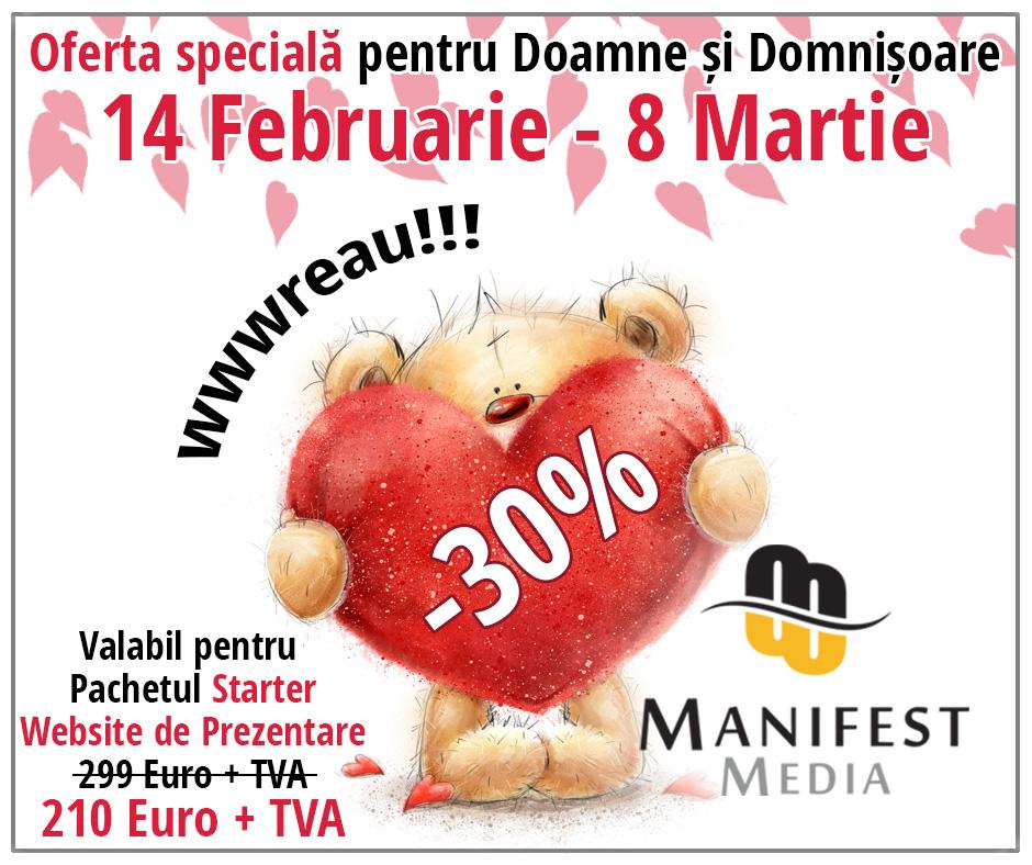 Site de prezentare – Oferta speciala de Valentines Day